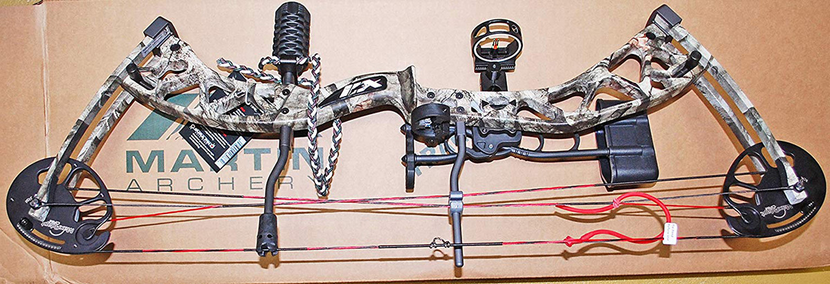 2016 Martin Archery Carbon Rage Package 17 to 70lbs Compound Bow